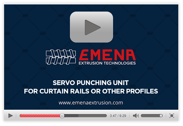 Servo Punching Unit For Curtain Rails Or Other Profiles